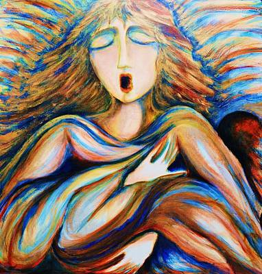 Painting - Angel Singing by Rae Chichilnitsky