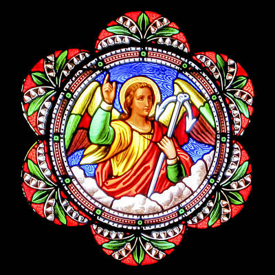 Photograph - Angel Stained Glass by Munir Alawi