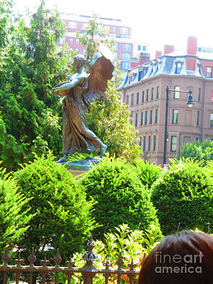 Painting - Angel Statue Boston Ma America Usa Travel Photos By Navinjoshi Fineartamerica Pixels by Navin Joshi