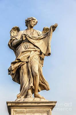 Angel Statue In Rome Art Print by Antony McAulay