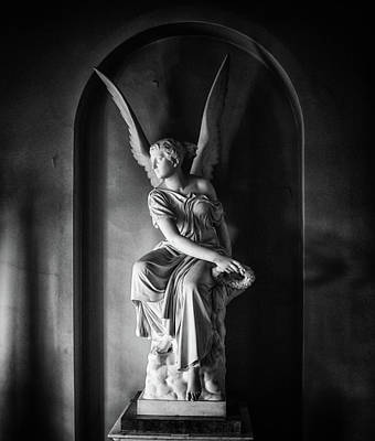 Tomb Photograph - Angel Statue by Martin Newman