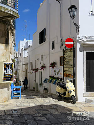 Famous Residents Photograph - Angel Street.ostuni.italy by Jennie Breeze