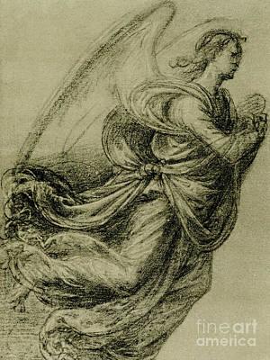 Angel Study Art Print