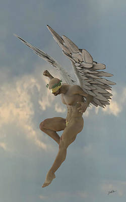 Cherubim Digital Art - Angel That Watches by Joaquin Abella