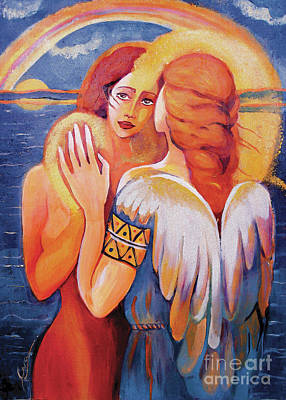 Painting - Angel Touch by Eva Campbell