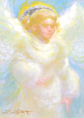 Angel Transmitting Light Art Print by John Murdoch