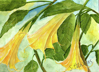 Angel Trumpets Art Print