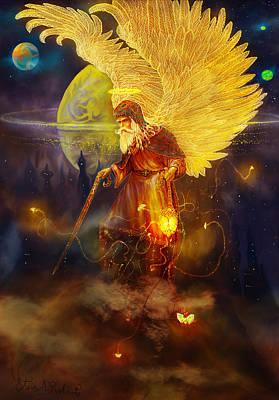 Angel Art Painting - Angel Uriel by Steve Roberts