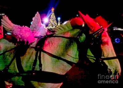 Photograph - New Orleans Angel Wing Christmas Mule In The French Quarter  by Michael Hoard