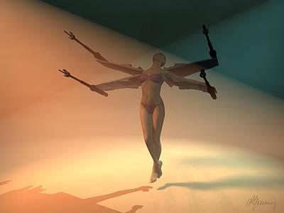 Angel Wing  Art Print by Michael Greenaway