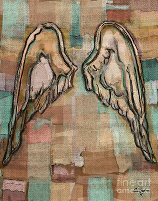 Painting - Angel Wings by Carrie Joy Byrnes