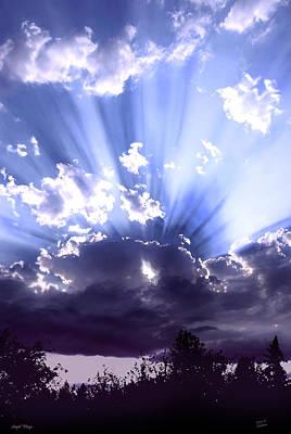 Mixed Media - Angel Wings by Diane C Nicholson