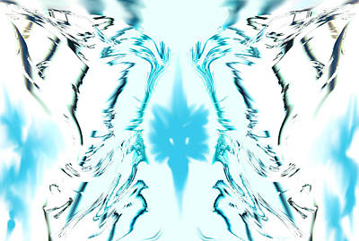 Angel Digital Art - Angel Wings In The Blue Sky by Abstract Angel Artist Stephen K