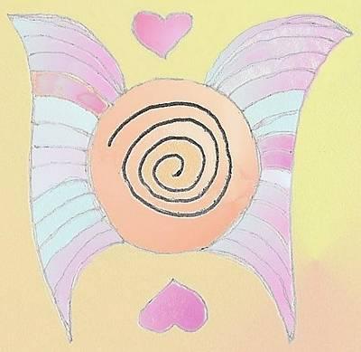 Inspiration Drawing - Angel Wings by Julia Woodman