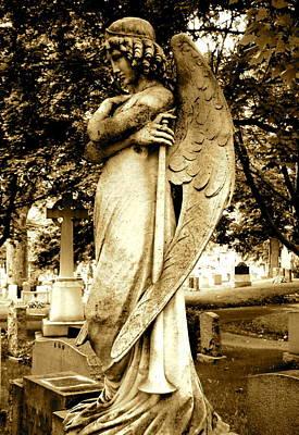 Angel With A Trumpet. Print by Loretta Fasan