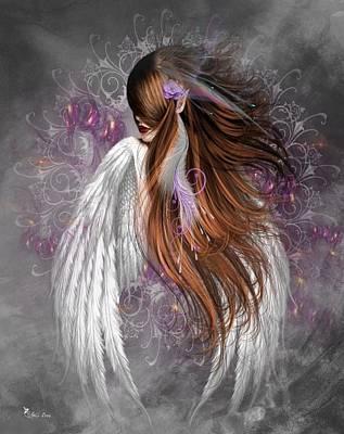 Digital Art - Angel With Class by Ali Oppy