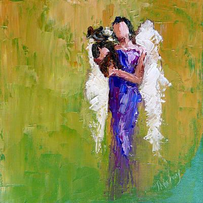 Angel Painting - Angel With Dog by Judy Mackey