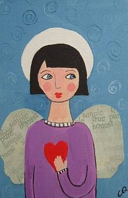 Painting - Angel With Heart by Christine Quimby
