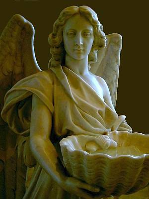 Photograph - Angel With Holy Water by Carolyn Jacob