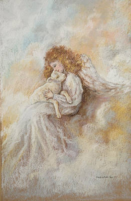 Painting - Angel With Lamb by Patricia Baehr-Ross