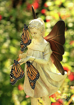 Photograph - Angel With Real Butterfly Blessing Photo by Luana K Perez