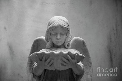 Photograph - Angel With Shell by Heather Green