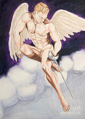 Physique Painting - Angel With Sword by The Artist Dana