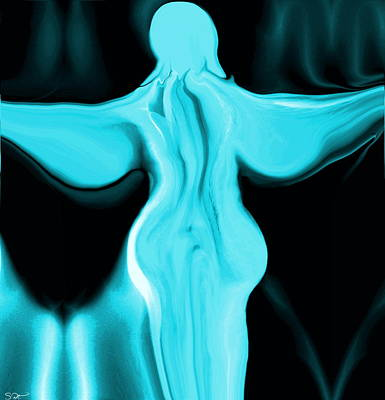 Innocent Angels Digital Art - Angel With The Soul Of A Poet by Abstract Angel Artist Stephen K