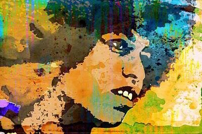 Communist Mixed Media - Angela Davis-4a by Otis Porritt