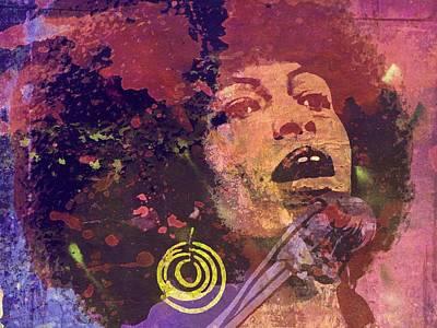 Communist Mixed Media - Angela Davis-6b by Otis Porritt