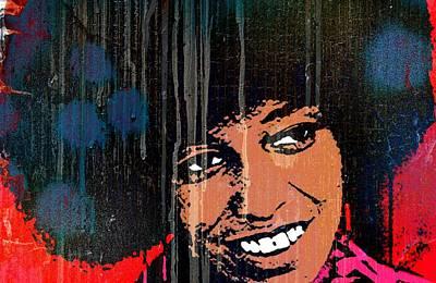 Communist Mixed Media - Angela Davis-c by Otis Porritt