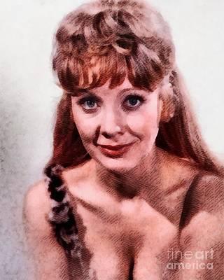 Angela Douglas, Vintage Actress Art Print by John Springfield