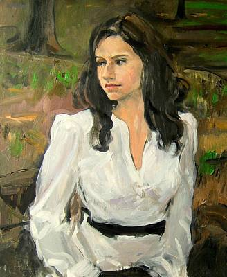 Painting - Angela In Central Park by Robert Holden