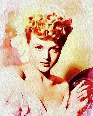 Painting - Angela Lansbury, Vintage Actress by John Springfield