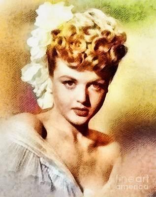 Angela Lansbury, Vintage Hollywood Actress Art Print by John Springfield