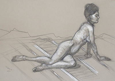 Drawing - Angela Reclining 3 by Donelli  DiMaria