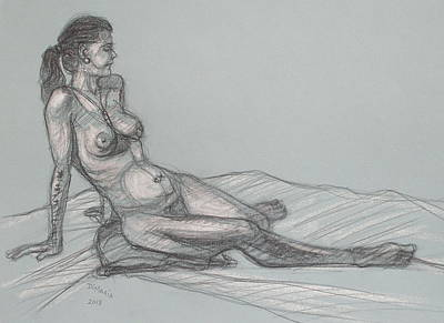 Drawing - Angela Reclining 4 by Donelli  DiMaria