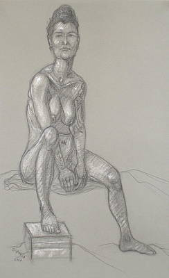 Drawing - Angela Seated 2 by Donelli  DiMaria