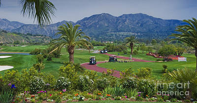 Angeles National Golf Course Art Print by David Zanzinger