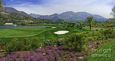 Photograph - Angeles National Golf Course Los Angeles  by David Zanzinger