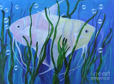Painting - Angelfish Duo by Karen Jane Jones