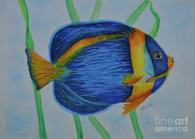 Photograph - Angelfish Watercolor by Olga Hamilton