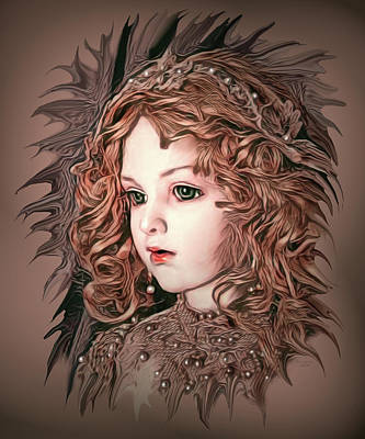 Angelic Doll Art Print