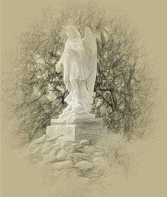 Photograph - Angelic Stance by Leslie Montgomery
