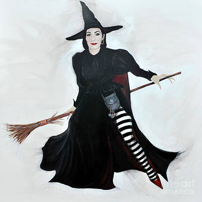 Painting - Angelica Houston Bewitched by Michelle Deyna-Hayward