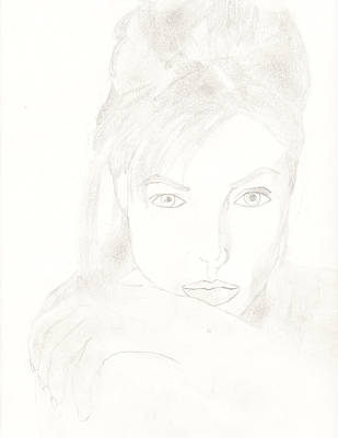 Angelina Art Print by Carlos Hyman