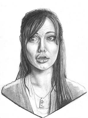 James Parker Drawing - Angelina by James Parker
