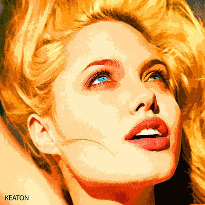 Art Print featuring the digital art Angelina by John Keaton
