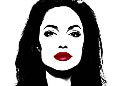 Sean Connery Mixed Media - Angelina Jolie 3f by Brian Reaves
