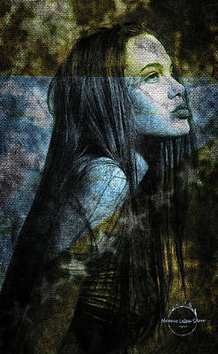 Digital Art - Angelina Jolie by Absinthe Art By Michelle LeAnn Scott
